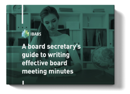write effective board meeting