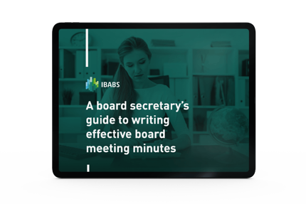 A Board Secretary's Guide to Writing Effective Board Meeting Minutes