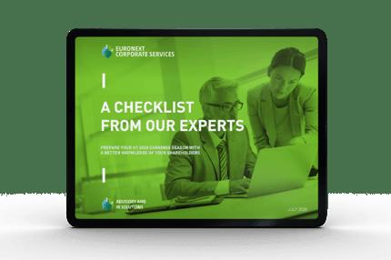 Checklist to prepare H1 results